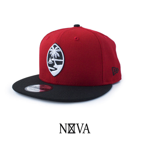 Guam Seal Red/Black/White 9Fifty Snapback
