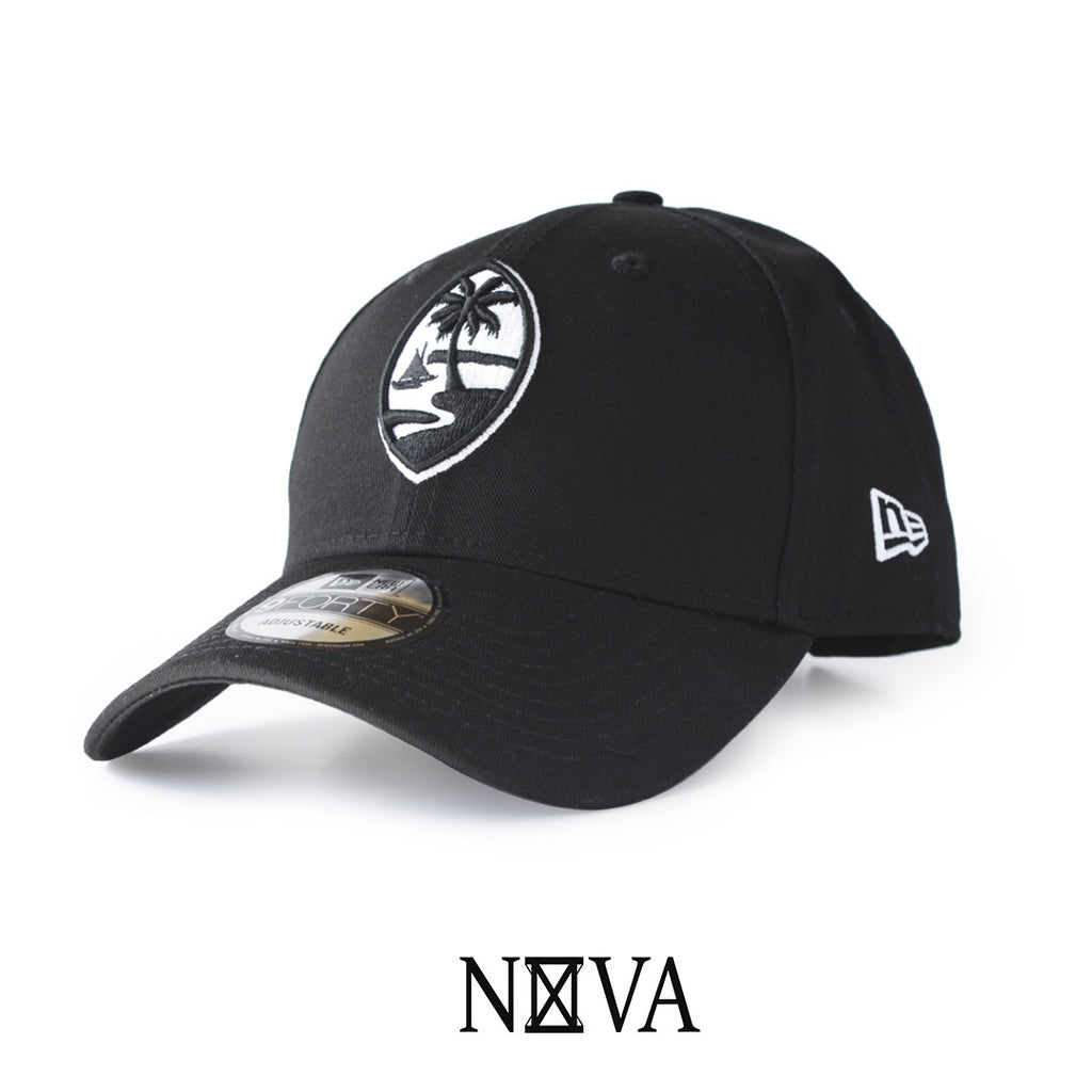 Guam Seal 9Forty Strapback Black/White