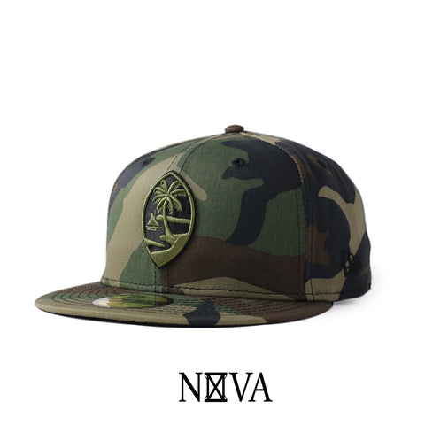 Guam Seal 59Fifty Fitted Camo w/ Olive & Black Seal