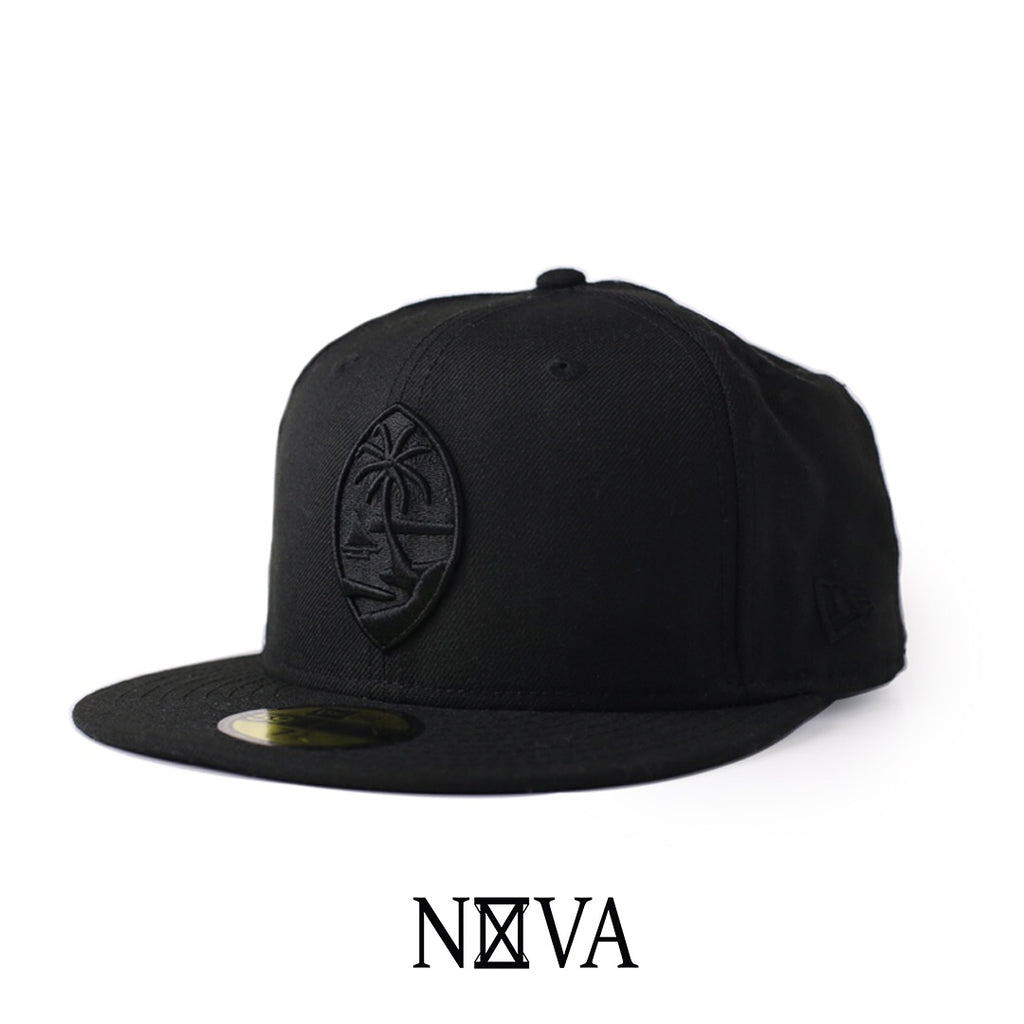 Guam Seal 59Fifty Fitted Black on Black