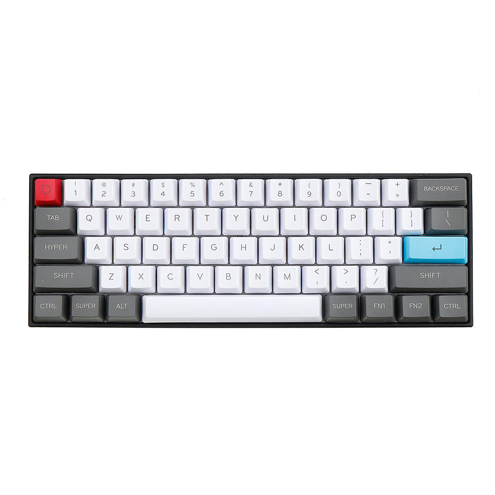 TKD Breeze PBT Keycaps - 61 Key ANSI Layout OEM Profile for 60% Mechanical Keyboard - The Keyboard Depot
