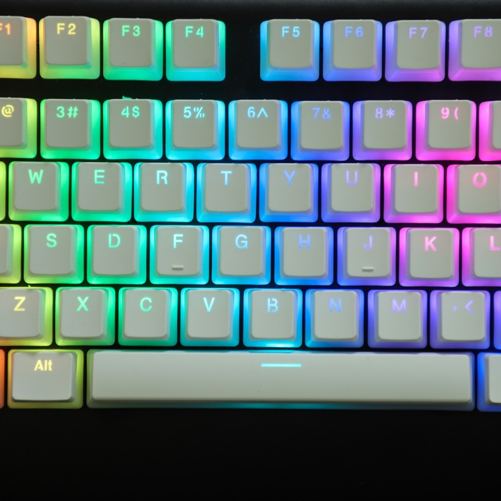 TKD White PBT Pudding Keycaps - The Keyboard Depot