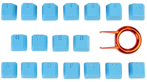Neon Blue Tai-Hao 18-Key Backlit Double Shot Rubber Keycaps 2-3 DAY SHIPPING