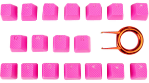Neon Pink Tai-Hao 18-Key Backlit Double Shot Rubber Keycaps 2-3 DAY SHIPPING
