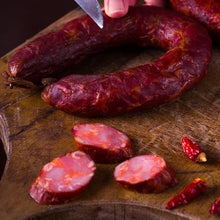 Load image into Gallery viewer, Slice and savour traditional Chouriço (Chorizo).