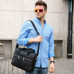 Men's Genuine Leather Business Bag