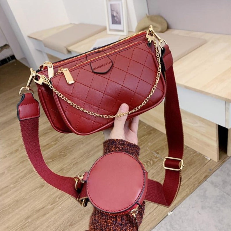 Women's Three Piece Shoulder Bag