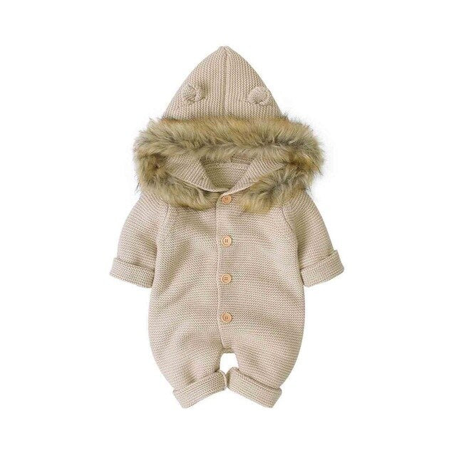 Super Soft Knitted Jumpsuit - 0 - 18 Months