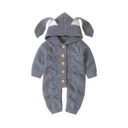 Super Soft, Knitted Baby Rompers - 4 Sizes Available 0 - 18 Months