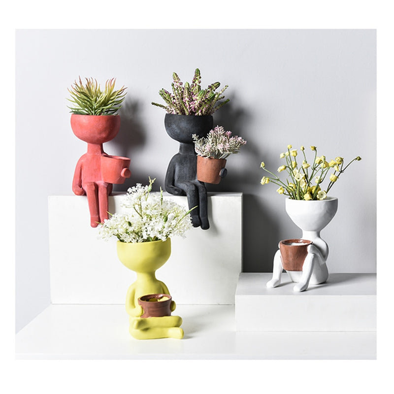 Abstract Character Plant Pot