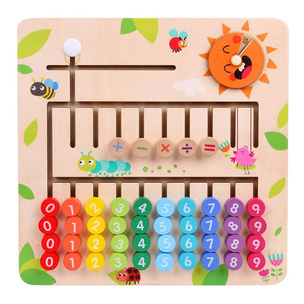 Wooden Mathematics Toy - Learn Counting The Fun Way