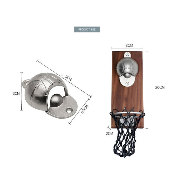 Basketball Bottle Opener With Net