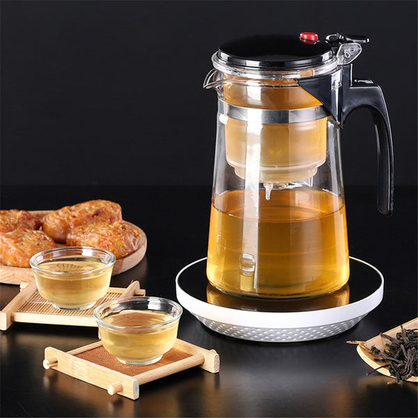 Glass Tea Heat Resistant Infuser Pot
