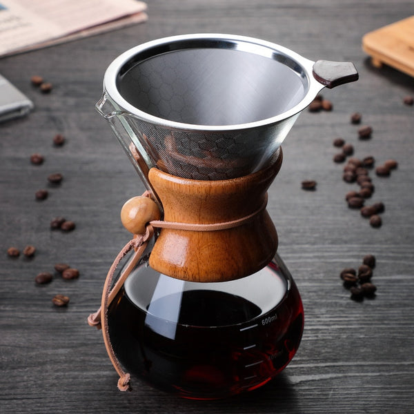 600ml Coffee Dripper With Filter