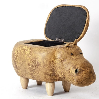 Luxury Animal Footstool With Storage