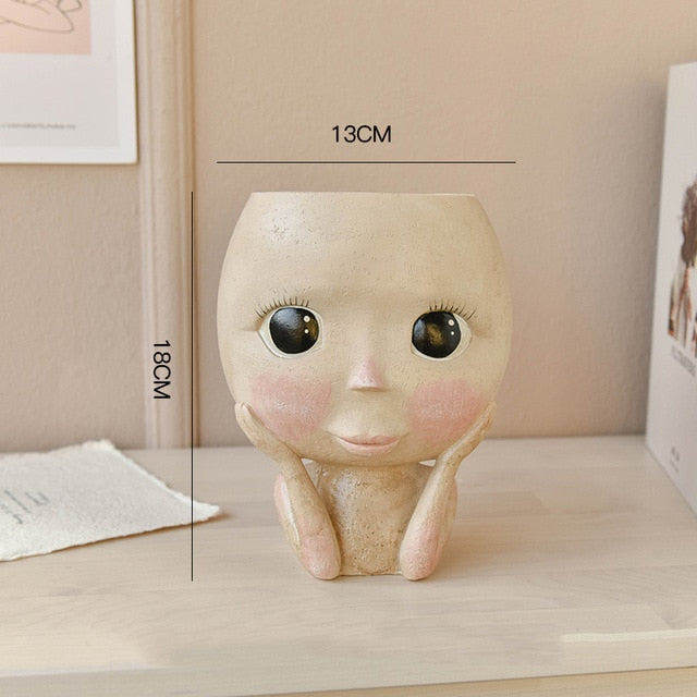 Super Cute Face Plant Vase
