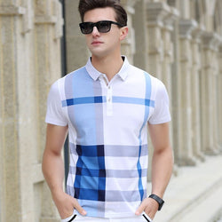 Ultra Soft Chequered Men's Polo Shirt