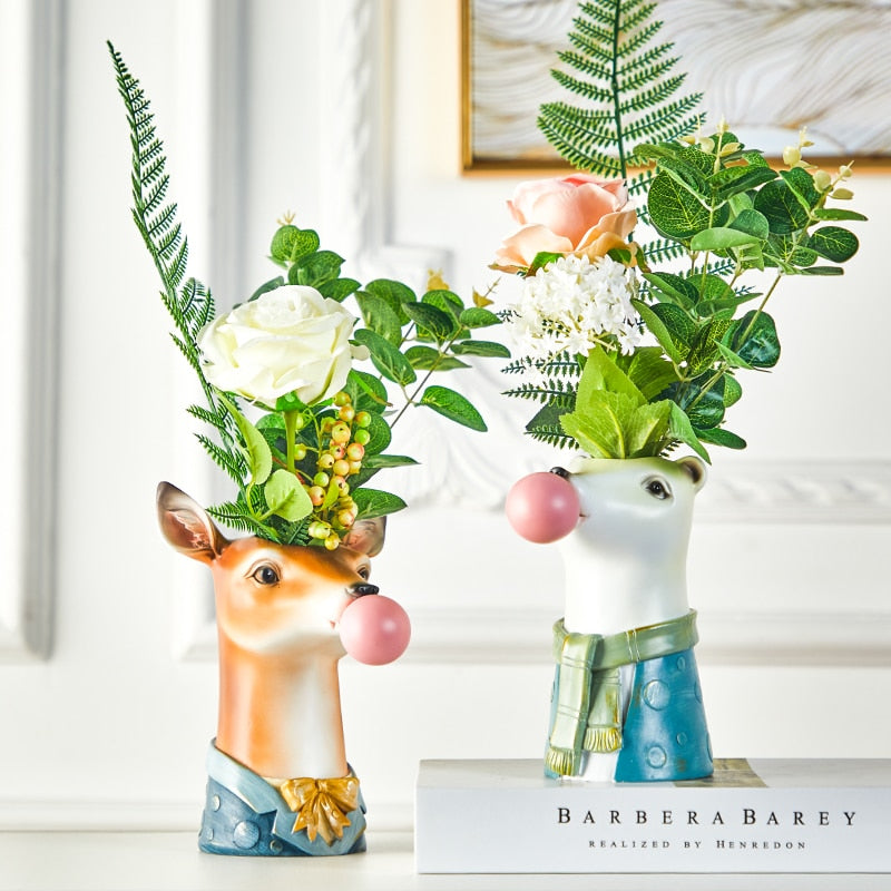 ArtLovin Animal Head Flower Pot