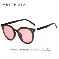 Veithdia Photochromic Women's Sunglasses With Case
