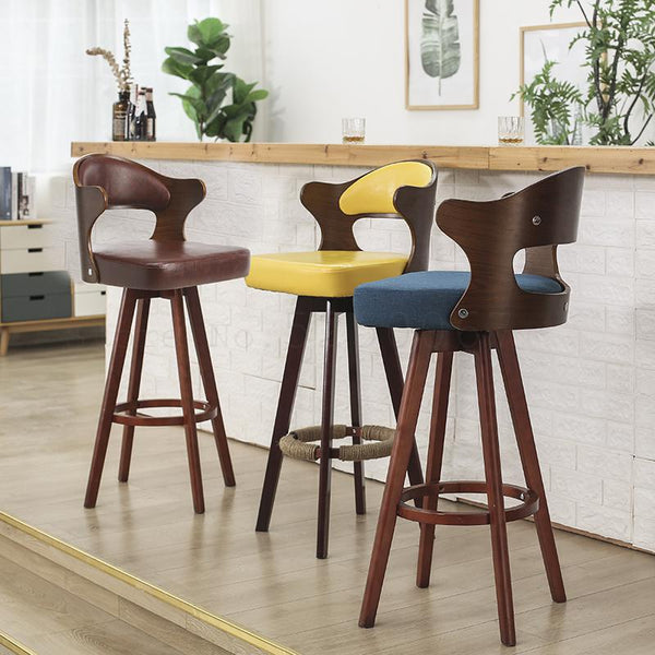 Solid Wood Rotary Bar Stools