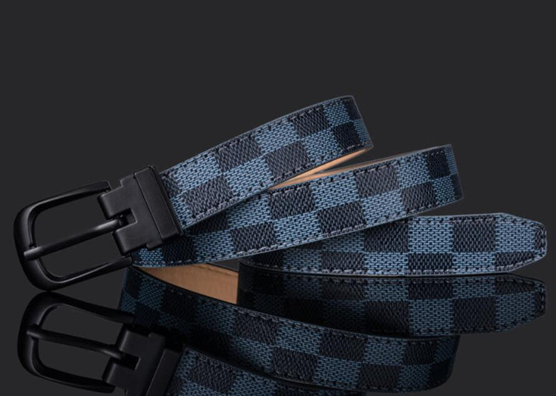 Men's Luxury Chequered Belt