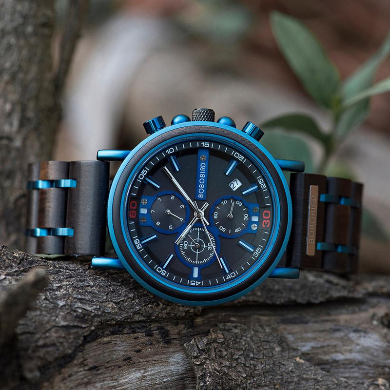 BOBOBIRD Exclusive Wooden Chronograph Watch