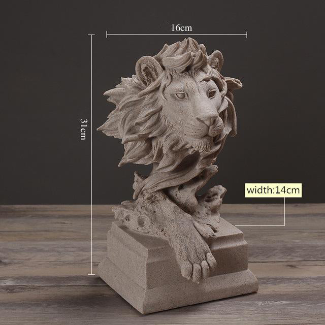 Hand Crafted Resin Lion Statue