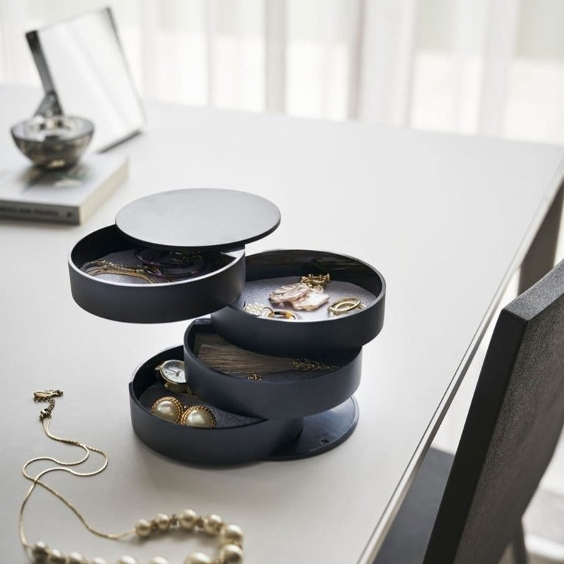 Rotating Jewellery Storage Box with Lid