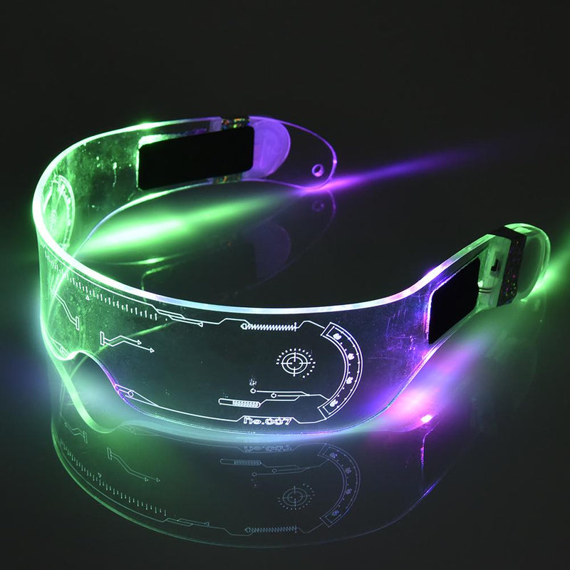 LED Sci-Fi Glasses - Perfect For Halloween and Parties