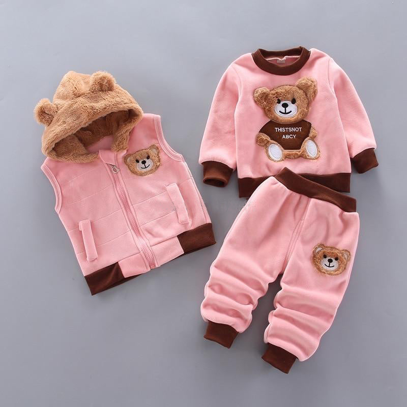 3 Piece Breathable and Cosy Baby Jumpsuit -  Sizes Ranging From 3 Months - 4 Years