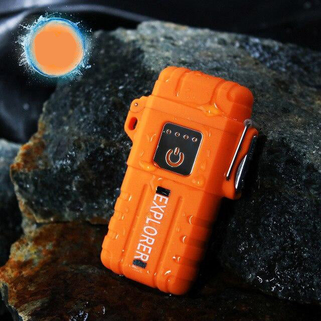 Waterproof Portable Dual Arc Lighter Portable USB Rechargeable