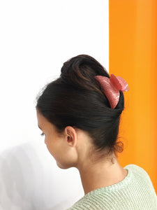 Large Glitter Hairclip - Pink
