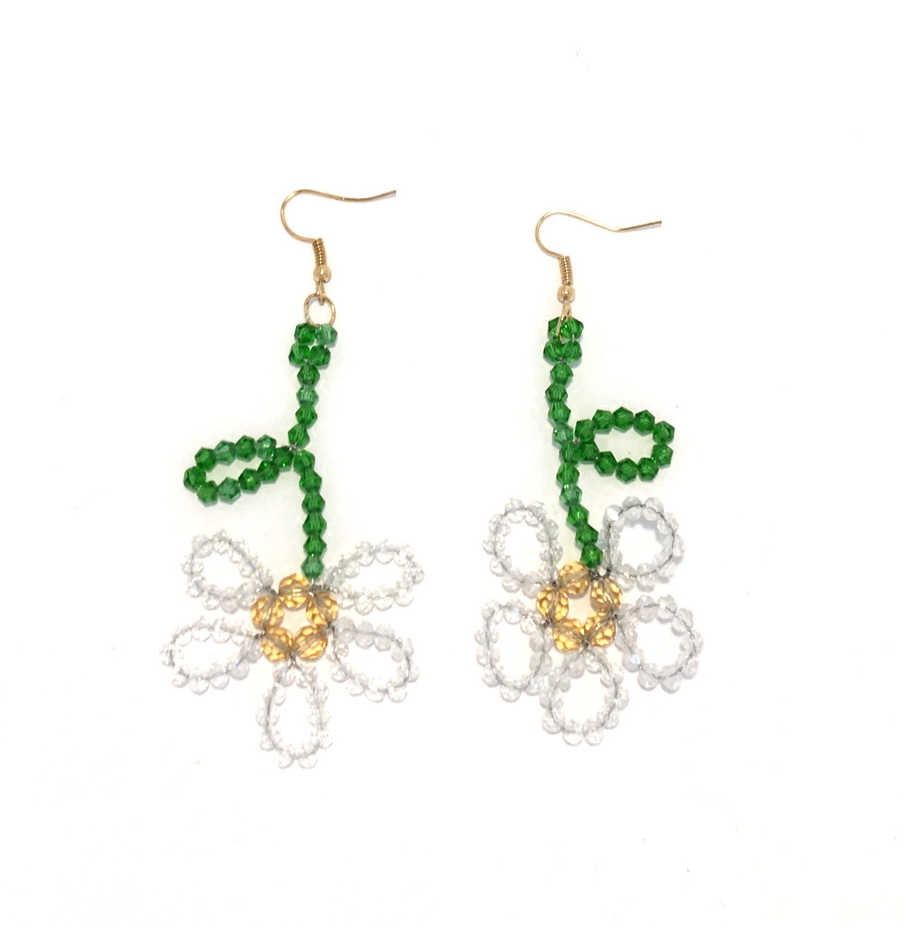Beaded Doodle Flower Earring