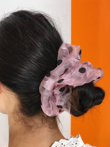 Large Dotty Scrunchie - Pink