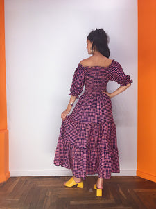 Ternet off shoulder smock dress