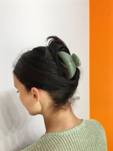 Large Glitter Hairclip - Green