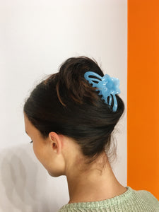 Flower Hairclip - Baby Blue