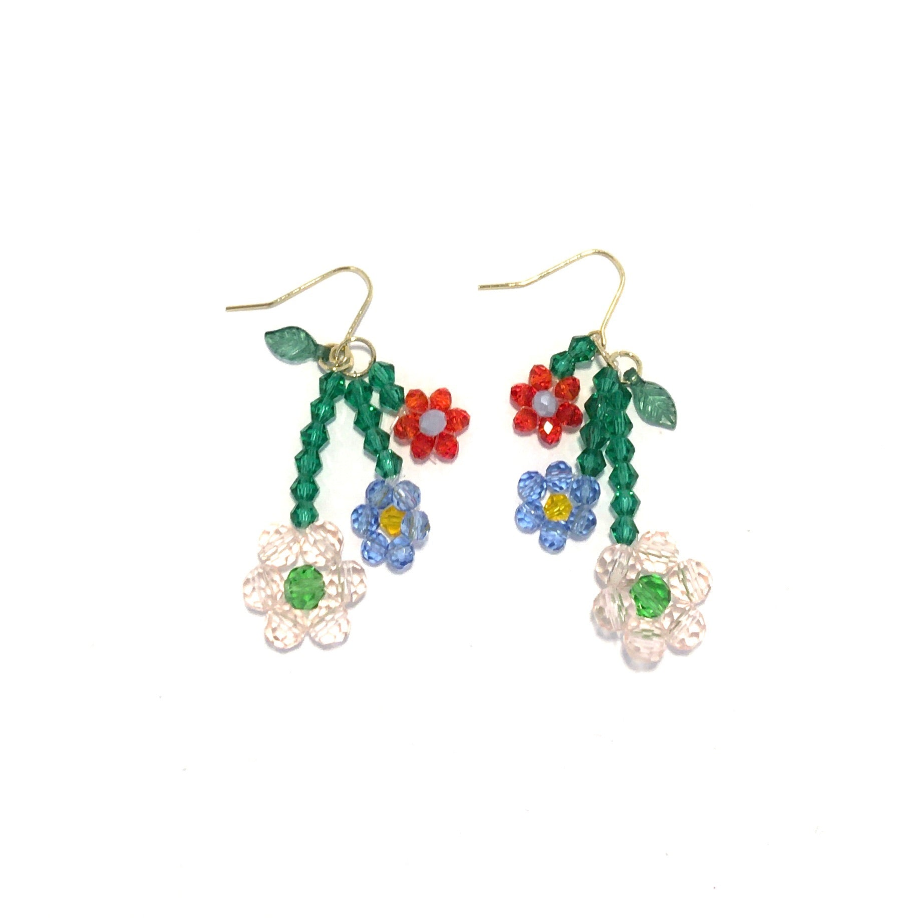 Girly Beaded Flower Earring No.2