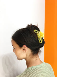 Flower Hairclip - Light Yellow