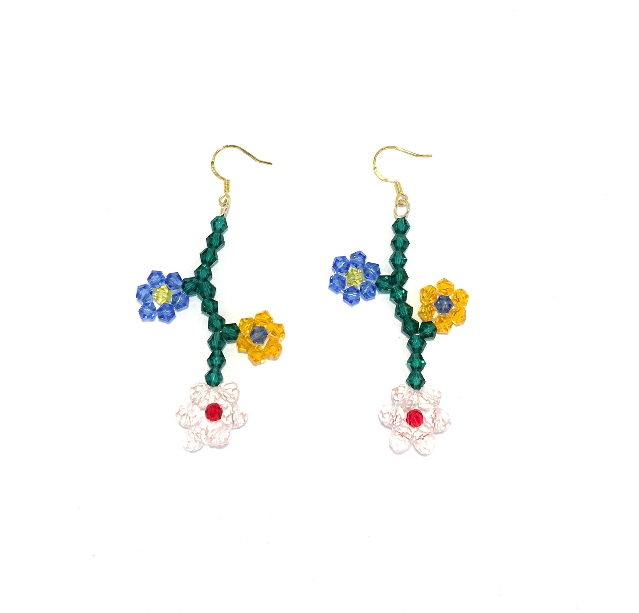 Girly Beaded Flower Earring No. 3