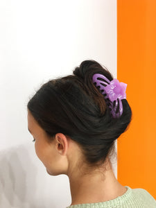 Flower Hairclip - Purple