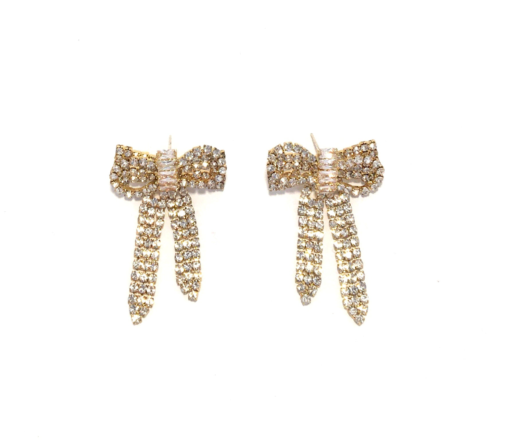 Rhinestone Bow Ear