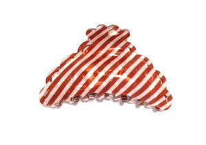 Candy Striped Hairclip - Red