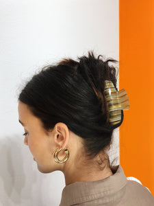 Abstract Hairclip - Brown