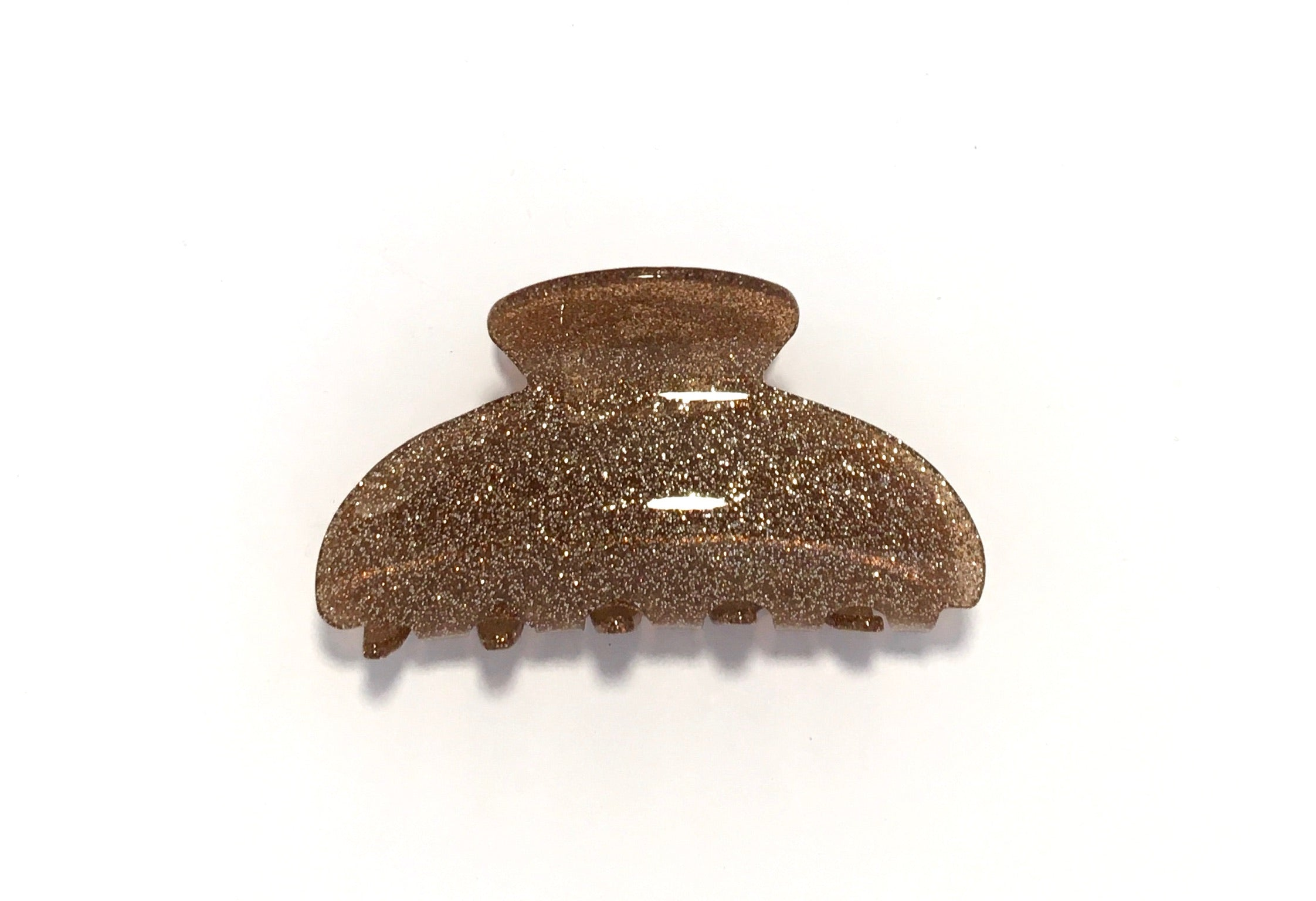 Small Glitter Hairclip - Bronze