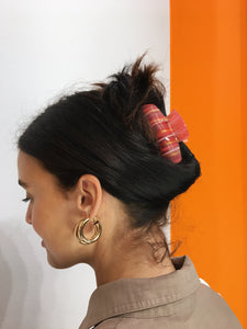 Abstract Hairclip - Red