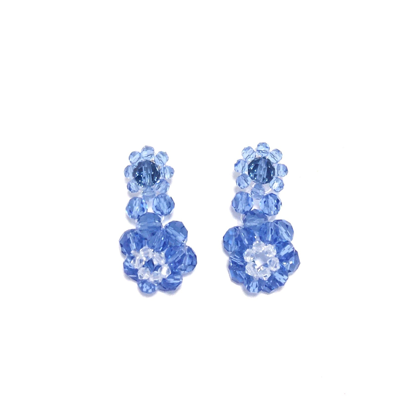 Blue Dome Beaded Earring