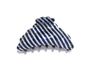 Candy Striped Hairclip - Dark Blue