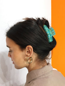 Abstract Hairclip - Blue