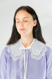 Collar - Double Ruffle White